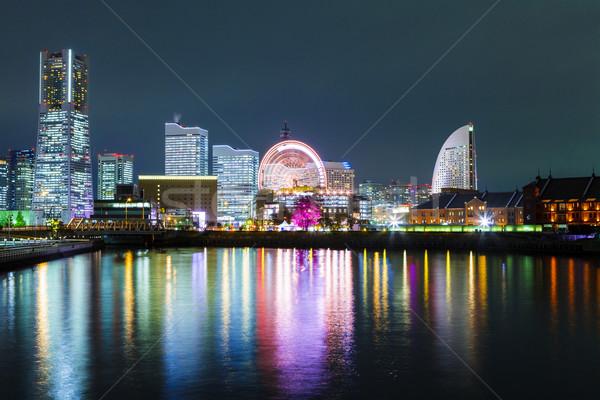 Yokohama città Giappone notte business costruzione Foto d'archivio © leungchopan