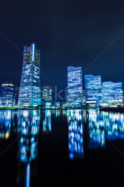Иокогама ночь бизнеса здании город Сток-фото © leungchopan