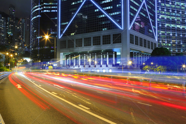 Fast moving cars at night Stock photo © leungchopan