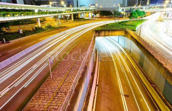 Foto stock: Tráfico · noche · tiempo · negocios · resumen · luz
