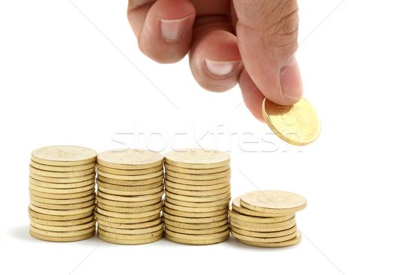 Megtakarítás takarékosság kéz piac vásárol gazdaság Stock fotó © leungchopan