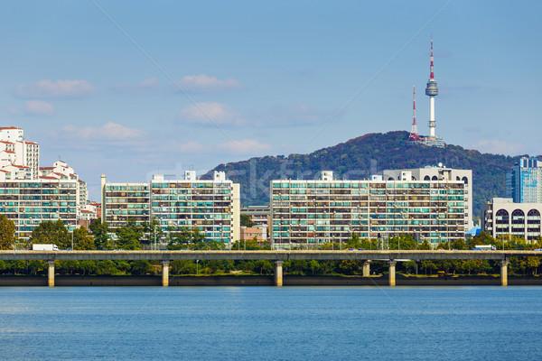 Seoul city in South of Korean  Stock photo © leungchopan