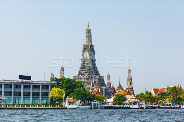 Бангкок воды здании город Skyline поклонения Сток-фото © leungchopan