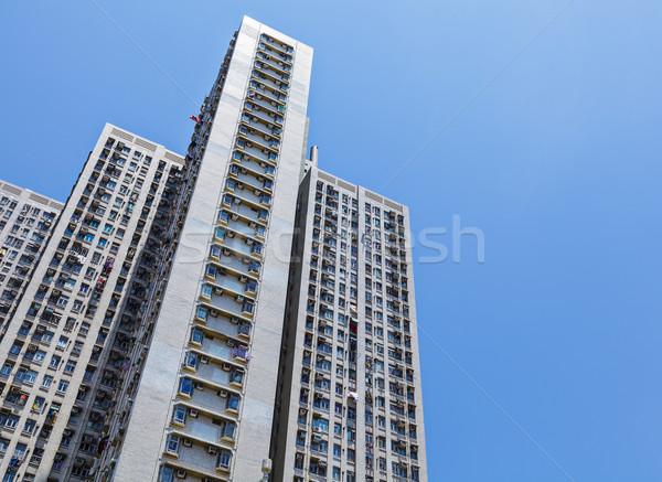 Public housing in Hong Kong Stock photo © leungchopan