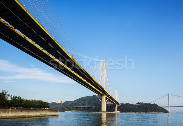 Stock photo: Suspension bridge in Hong Kong