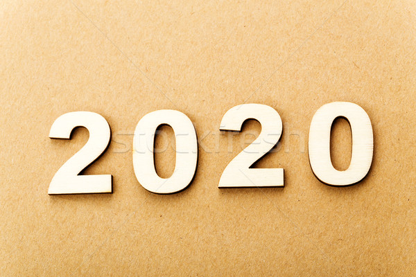 Wooden text for year 2020 Stock photo © leungchopan
