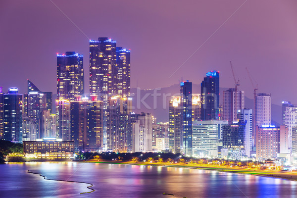 Corea del Sur horizonte distrito negocios edificio ciudad Foto stock © leungchopan