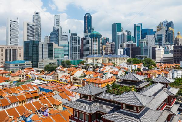 üzlet központ Szingapúr iroda város városi Stock fotó © leungchopan