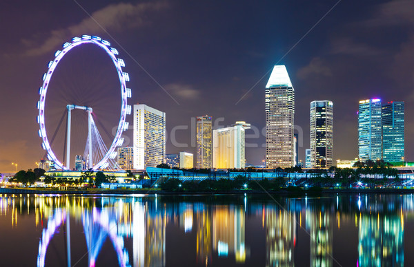 Szingapúr városkép égbolt iroda épület ázsiai Stock fotó © leungchopan