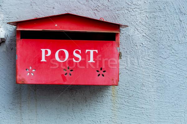 Red mailbox Stock photo © leungchopan