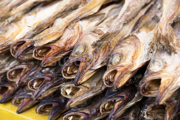 Secar salgado peixe textura mercado rei Foto stock © leungchopan