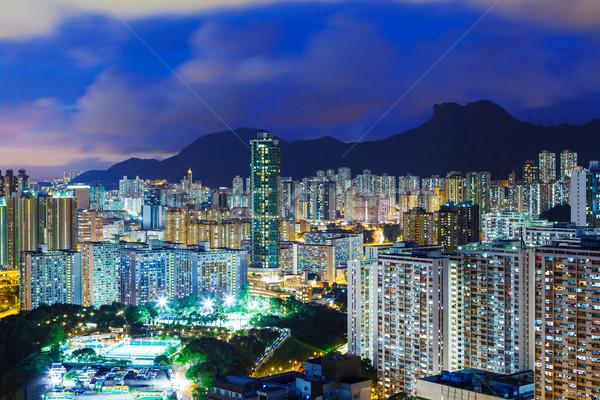 Urban Cityscape in Hong Kong at night Stock photo © leungchopan