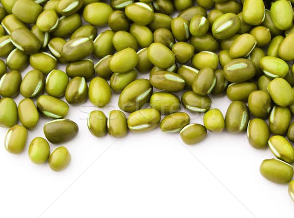Mung bean isolated on white background Stock photo © leungchopan