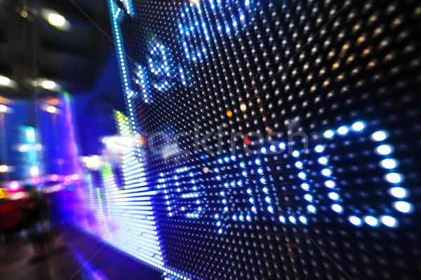 Beurs gegevens display geld corporate digitale Stockfoto © leungchopan
