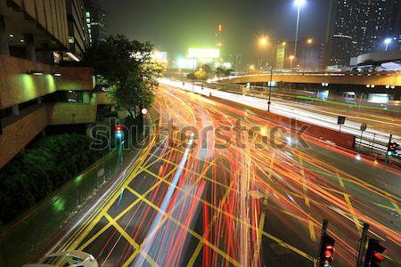 Kentsel şehir araba ışık iş yol Stok fotoğraf © leungchopan