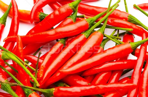 Red pepper close up Stock photo © leungchopan