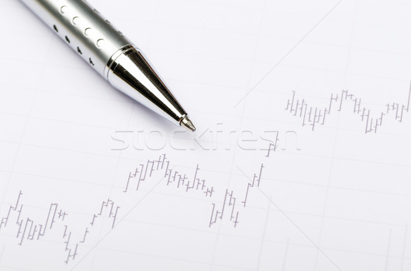 Stock market chart Stock photo © leungchopan