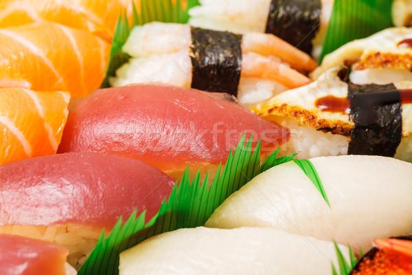 Japanese sushi close up Stock photo © leungchopan