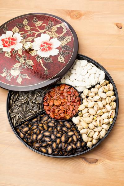 Lunar New Year snack tray Stock photo © leungchopan