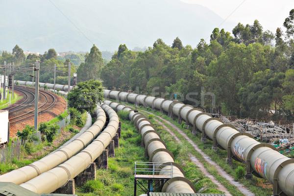 industrial pipeline Stock photo © leungchopan