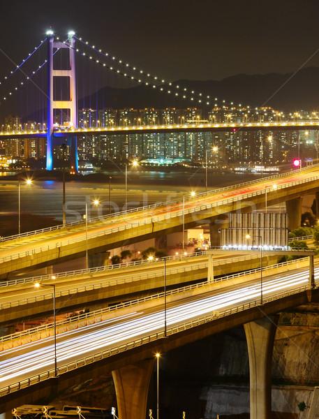 freeway and bridge Stock photo © leungchopan