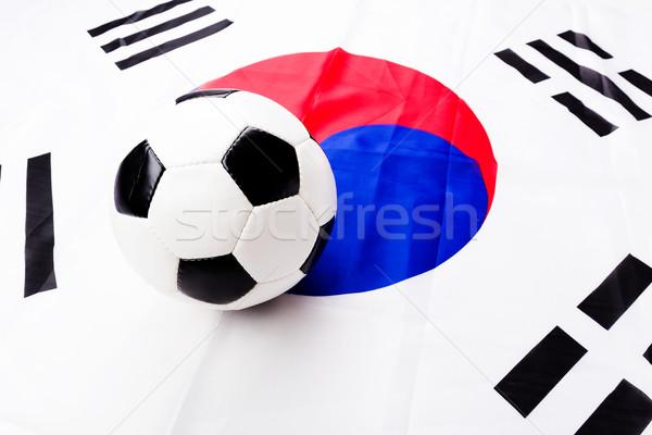 South Korean flag and football Stock photo © leungchopan