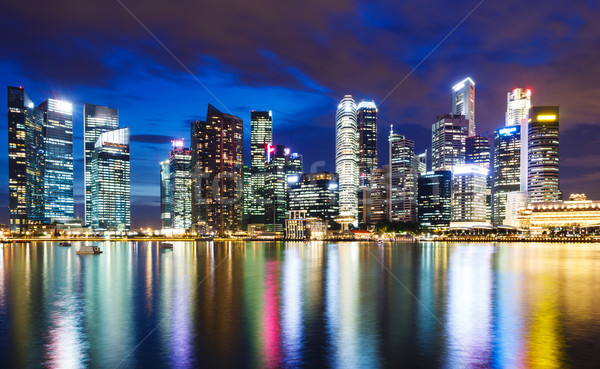 Singapour nuit ciel bureau ville Photo stock © leungchopan