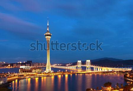 Macau at night Stock photo © leungchopan