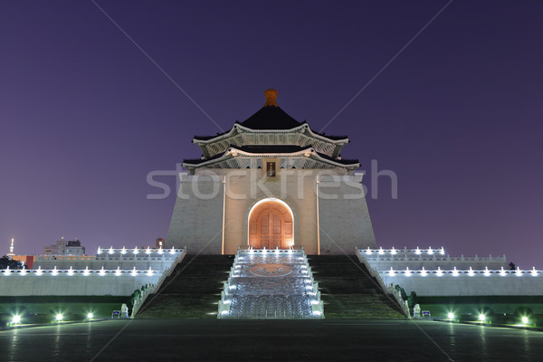 chiang kai shek memorial hall at night Stock photo © leungchopan