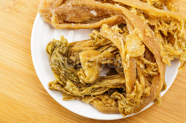 Megőrzött kínai zöldség levél só senki Stock fotó © leungchopan