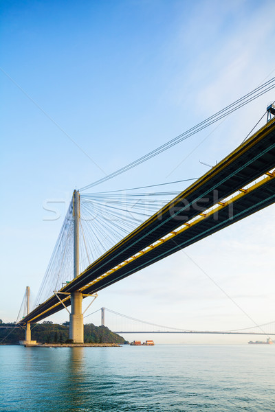 Suspension bridge in Hong Kong  Stock photo © leungchopan