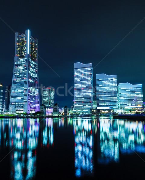 Иокогама Skyline бизнеса здании ночь азиатских Сток-фото © leungchopan