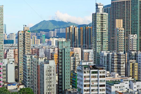 Hong Kong crowded building Stock photo © leungchopan