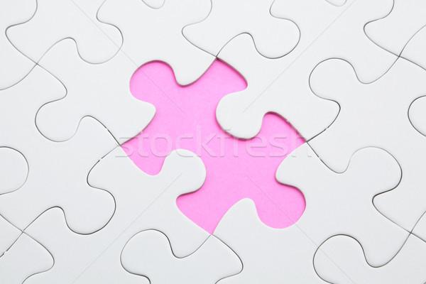 головоломки отсутствующий кусок белый целевой плана Сток-фото © leungchopan