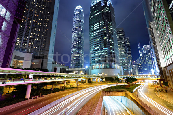 modern Hong Kong city at night Stock photo © leungchopan