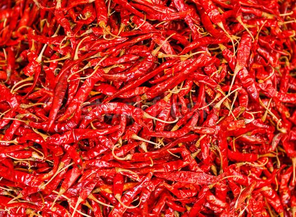 Dried chili pepper Stock photo © leungchopan