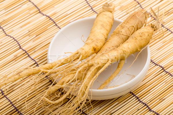 Ginseng achtergrond geneeskunde chinese witte asia Stockfoto © leungchopan