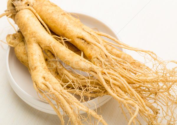 женьшень продовольствие медицина белый Азии здорового Сток-фото © leungchopan