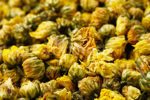 Suszy rumianek kwiat charakter zdrowia herbaty Zdjęcia stock © leungchopan