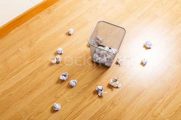 Papierkorb Papier Ball Business Holz Stock foto © leungchopan