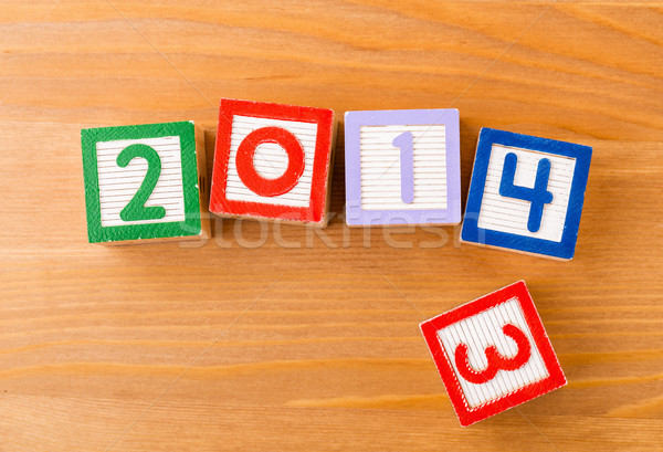 Toy block for 2013 to 2014 Stock photo © leungchopan