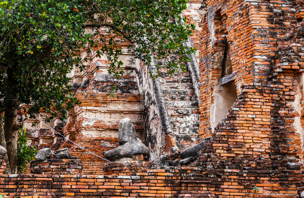 Historic architecture in Ayutthaya Stock photo © leungchopan