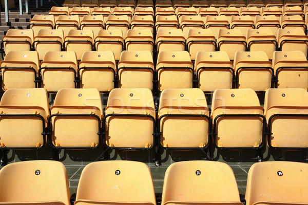 seat in sport stadium Stock photo © leungchopan