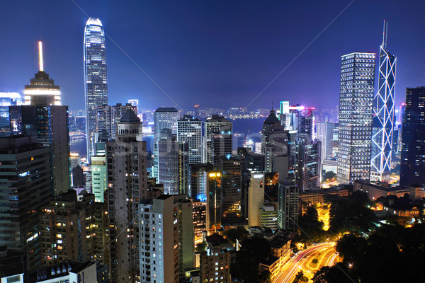 Hong Kong at night Stock photo © leungchopan