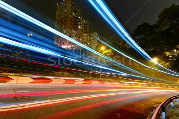 highway light trails Stock photo © leungchopan