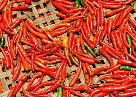красный корзины продовольствие зеленый приготовления Сток-фото © leungchopan