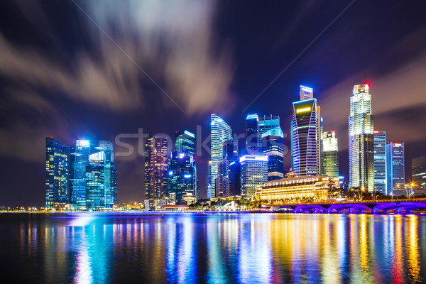 シンガポール スカイライン 1泊 オフィス 水 建物 ストックフォト © leungchopan