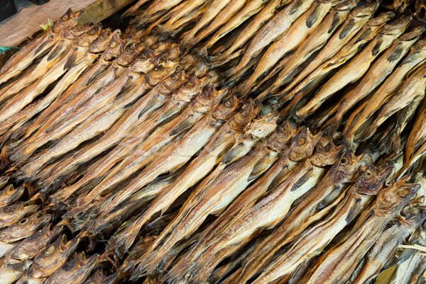 Kuru tuzlu balık doku pazar kral Stok fotoğraf © leungchopan