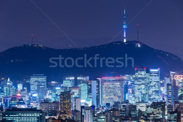 Seoul city Stock photo © leungchopan
