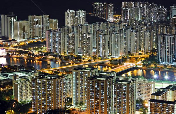 香港 タウン 1泊 オフィス 建物 市 ストックフォト © leungchopan